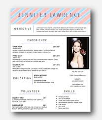 Resume Template Jennifer Lawrence Instant Download by ClassyWomanBoutique  Etsy