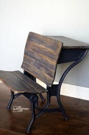 navy blue antique school desk