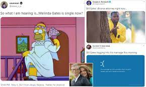 Twitter awash with memes in the wake of Bill and Melinda Gates' shock  divorce announcement