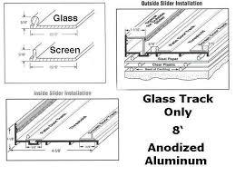 cool aluminum sliding cabinet door track and glass door replacement track 96 inch aluminum
