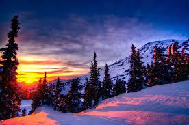 Winter Mountain Sunset Wallpapers - Top ...