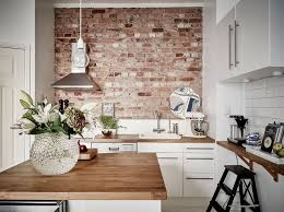 interior design kitchen white. Kitchen With Brick Wall Best 25 Ideas On Pinterest Exposed Create An Elegant Statement A White Design Room Interior Dream Kitchens 736x551