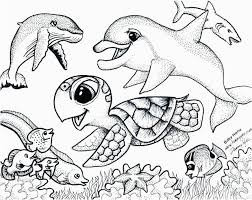 Ocean Animals Color Pages Coloring Pages Of Ocean Animals Coloring Pages For Children