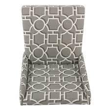 homepop dinah modern dining chair modern gray lattice set of 2 free today com 24254736