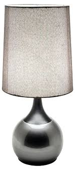 black touch lamp colonnade touch lamp grey shade with black and grey base black chrome touch