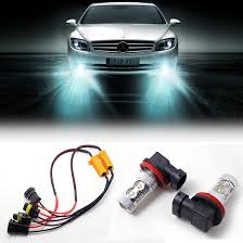 online buy whole mercedes wiring harness from mercedes 2 h11 led projector fog light drl canbus no error load resistor wiring harness for