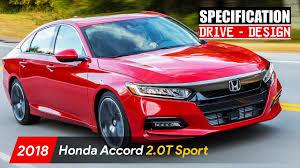 2018 honda accord design. Modren 2018 2018 Honda Accord 20T Sport  Drive  Design Specs Intended Honda Accord Design