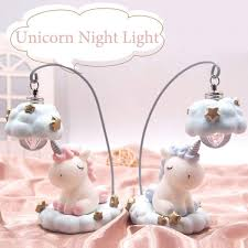 Senarai Harga Blue Pink Unicorn Lamp Led Unicorn Night Light Battery