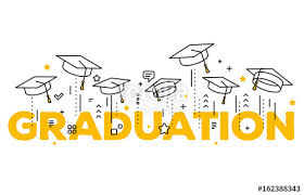 Congratulation Graduates Vector Illustration Of Word Graduation With Graduate Caps On A White