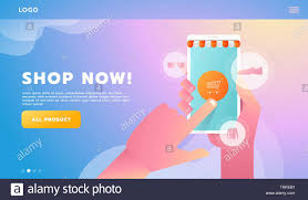 Workflow Design Online Hand Shopping Online Business Conceptual Flat Style Vector