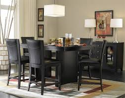 endearing black table set 17 engaging tall dining room tables exotic sets and chairs modern
