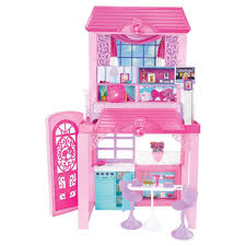 Barbie Dolls 2 Story Glam Vacation Doll House Dollhouse Furniture