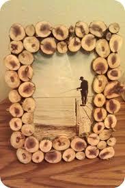 diy wood slice picture frame