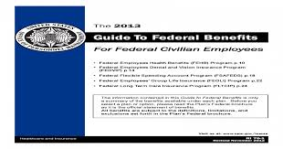 Guide To Federal Benefits Opm To Federal Benefits For