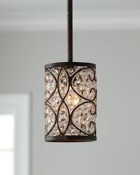 crystalline bronze mini pendant light