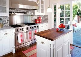 wooden small kitchen island