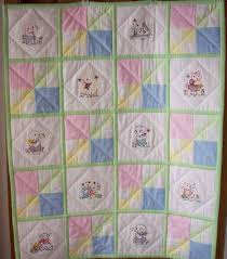 41 best Vintage baby quilts images on Pinterest | Appliques, Baby ... & Vintage baby animals are done with machine embroidery on this baby quilt.  Designs (Vintage Adamdwight.com