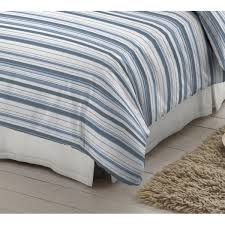 blue and white striped 100 brushed cotton duvet cover