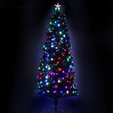 35u0027 PreLit Artificial Christmas Tree Fiber Optic Porch Pot Black Fiber Optic Christmas Tree