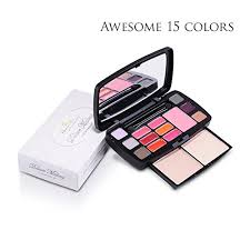 fits in every purse sleek and professional makeup kit small natural 15 color travel