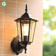 Outdoor Lighting Japanese Lanterns Us 23 99 25 Off Vintage Wall Lamp Outdoor Lighting Led Street Garden Villa Porch Lights Waterproof E27 Bulb For Patio Bronze Sconce Lighting In Led