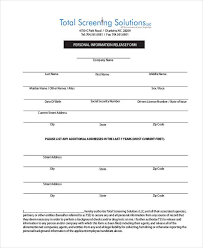 Personal Information Release Form