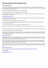 Postal Clerk Resume Sample Medical Billing Clerk Sample Resume Inspirational Postal Clerk 18