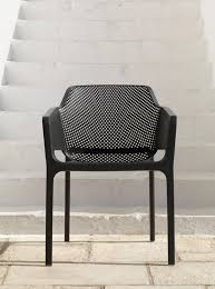 stackable outdoor chair net charcoal nz