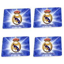 details about wood coaster coasters set of 4 or 6 tea coffee real madrid gift