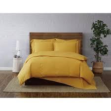 piece mustard twin xl duvet set
