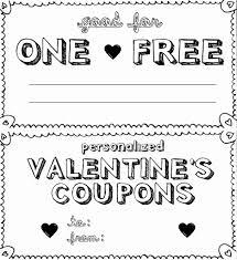 Valentine Day Coupon Template Unique Personalized Valentine