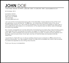 Bunch Ideas Of Fashion Merchandising Cover Letter About Cover Letter