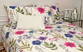 duvet cover pillowcase 65x65 100 cotton watercolor blue pink purple flowers