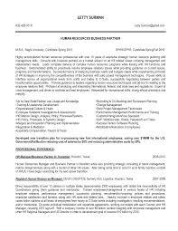 Human Resources Generalist Resume Sample Senior Hr
