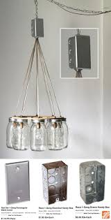 mason jar chandelier hanging mason jar lighting fixture ring with rh com wiring multiple light fixtures to one switch installing multiple light