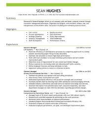 Restaurant General Manager Resume Inspiring Assistant Job