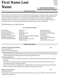 Engineering Skills Resume Quality Control Engineer Resume Sample Template