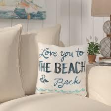 Beach Design Pillows Azariah Love You To The Beach Throw Pillow