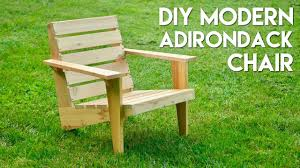 diy modern adirondack chair how to build woodworking