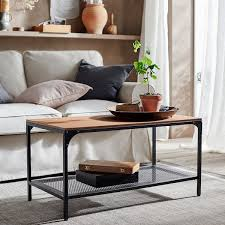 With all the gadgets in your life today, a coffee table makes more sense than ever. Fjallbo Coffee Table Black 353 8x181 8 90x46 Cm Ikea