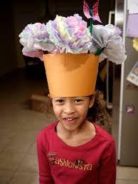 Paper Flower Hats Flower Pot Hat Chronicles Of Laura