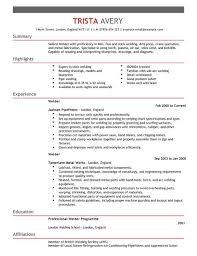 mig welder resume examples
