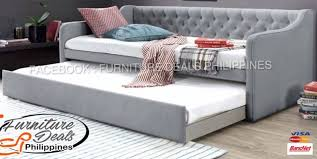 yf m gray daybed with trundle