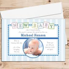 Print Baby Announcement Cards 10 Personalised Baby Boy Birth Announcement Thank You Photo Cards N112
