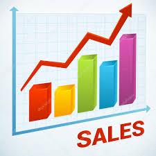 Positive Business Sales Chart Stock Vector Sputanski