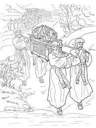 Jozua En De Israëlieten Steken De Jordaan Over Kleurplaat Gratis