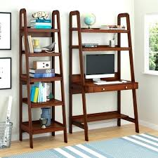 ladder shelf with desk leaning shelves with desk best ladder desk ideas on ladder shelves office
