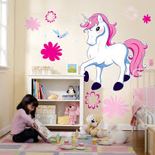 Sophisticated White Cabinet Shelf And Beautiful Unique Unicorn Monster High  Wall Decals And Area Rug