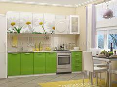 Купить <b>кухню МиФ Ромашки</b>-<b>2</b> 2.0 (салатовый металлик) под ...