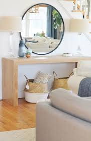 waterfall console table with round